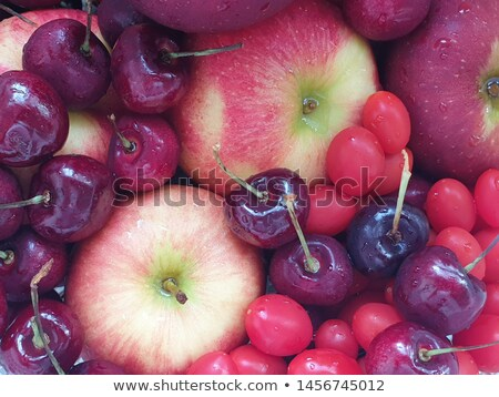 Stok fotoğraf: Background Fruit Have Tomato And Orange And Fruit In Bowl And Juice With Green Tea Cakeon Wooden Ba