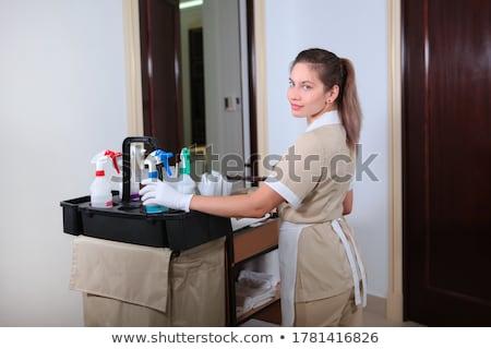 Sala de espera limpieza herramientas signo habitación hotel Foto stock © zurijeta
