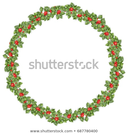 naturale · Natale · ghirlanda · frame · luminoso · verde - foto d'archivio © beholdereye