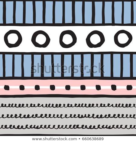 Vector sin costura blanco negro dibujado a mano ondulado Foto stock © CreatorsClub