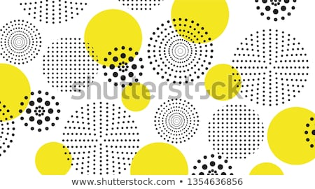 Foto stock: Vector Seamless Black And White Circles Halftone Pattern