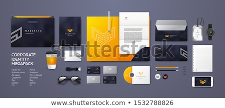 Corporate identity, flyer and poster template. Branding letterhead. Business identity kit. Paper edi Stock photo © JeksonGraphics