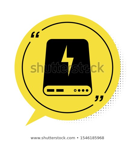 Illustration of black and yellow Powerbank charging smartphone Stock photo © tussik