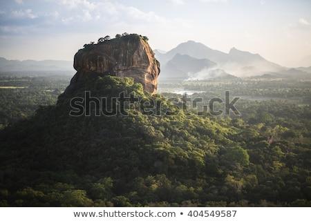 известный рок Шри Ланка мнение красочный закат Сток-фото © joyr