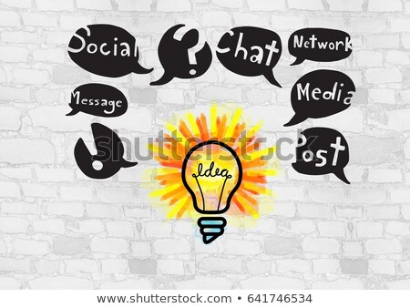 Kolorowy żarówka social media rysunki grafiki digital composite Zdjęcia stock © wavebreak_media