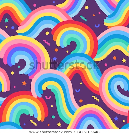 LGBT waves seamless pattern. Rainbow wave background Stock photo © MaryValery