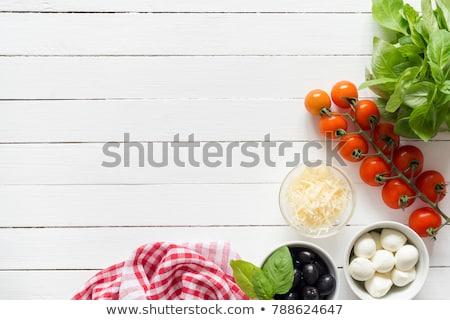 Parmesan légumes huile d'olive still life bouteille blanche Photo stock © Digifoodstock