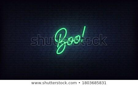 ハロウィン · ネオン · 怖い · 休日 · プロモーション · 幸せ - ストックフォト © voysla