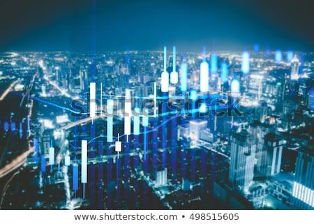 Business graph down 2017 Stock photo © Oakozhan