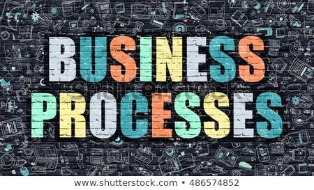 Business Processes in Multicolor. Doodle Design. Stock photo © tashatuvango
