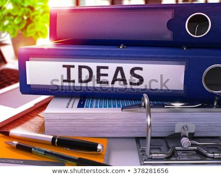 Blue Office Folder with Inscription Ideas. Stock photo © tashatuvango