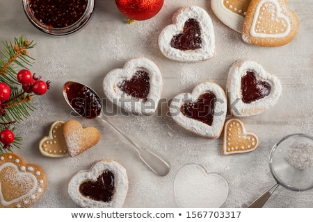 heart-shaped cookies with jam Stock photo © Digifoodstock