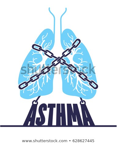 banner  asthma chain-bound Stock photo © Olena