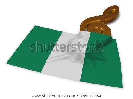 Simge bayrak Nijerya 3D sanat Stok fotoğraf © drizzd