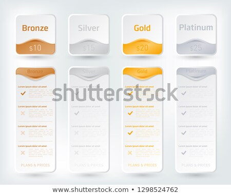 Tab in silver and gold Stock photo © bluering