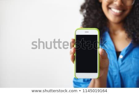 femme · smartphone · écran · personnes - photo stock © deandrobot