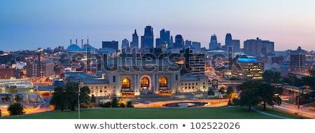 kansas city panorama at sunrise stock photo © benkrut