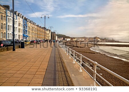 Aberystwyth seaside town in Wales UK. Stock photo © latent