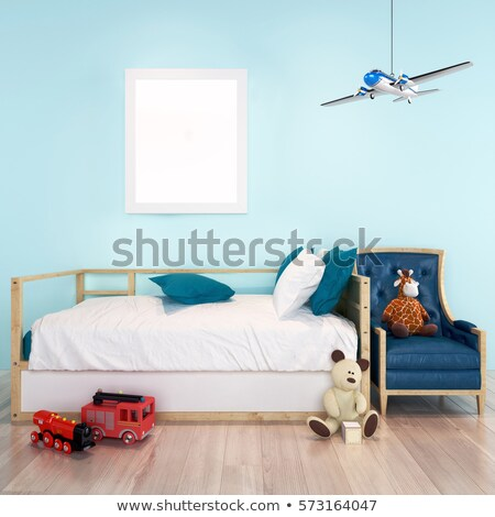 Toddler boy with toy animals on floor Stock photo © IS2