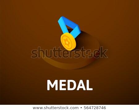 troféu · isométrica · ícone · isolado · cor · vetor - foto stock © sidmay