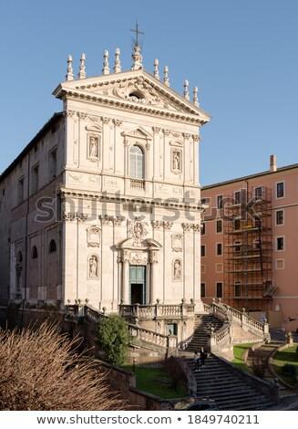 Kilise Roma İtalya Bina mavi Stok fotoğraf © Givaga