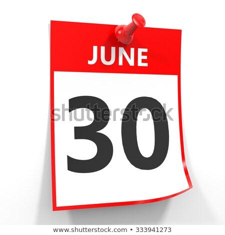 Foto stock: Pared · calendario · rojo · pin · 30 · cumpleanos