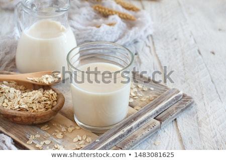 házi · készítésű · zab · tej · hagyományos · étel · üveg - stock fotó © lana_m