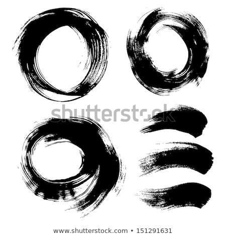 two black grunge watercolor brush stroke Stock photo © SArts