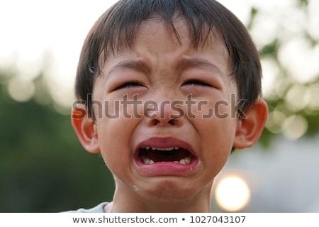 szomorú · boldogtalan · gyermek · sír · könnyek · gyerekek - stock fotó © erierika