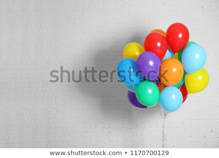 Colorful Party Balloons Against White Background Stock photo © monkey_business