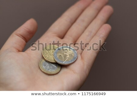 Hand and Euro coin stock photo © Dinga