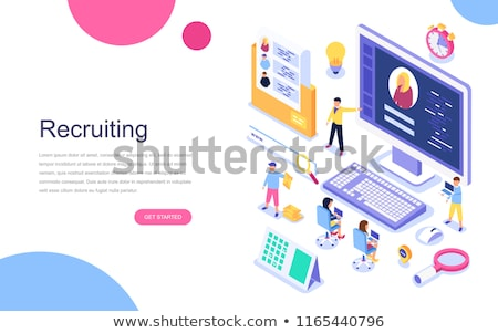 Headhunting and recruitment isometric flat vector concept. Stock photo © TarikVision