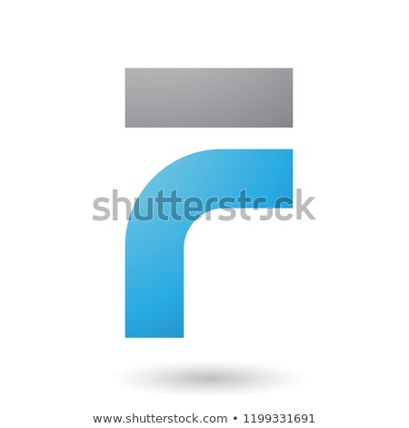 blue thick and bowed letter f vector illustration stock photo © cidepix
