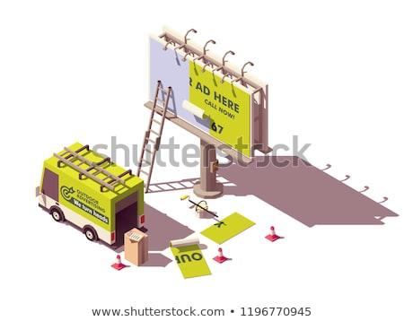 szabadtér · hirdetés · média · szett · vektor · izometrikus - stock fotó © tele52