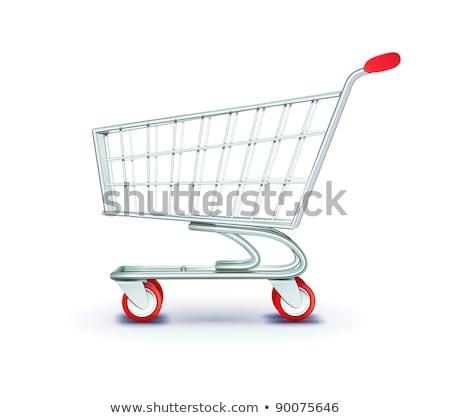 ショッピング · 多くの · 青 · グレー · アップ - ストックフォト © simazoran