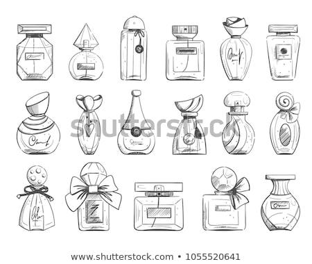 Vecteur croquis parfum bouteilles isolé blanche Photo stock © dashadima