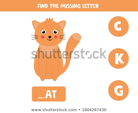 Spell English word ginger Stock photo © bluering