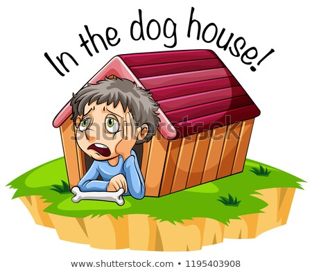 In the dog house idiom Stock photo © bluering