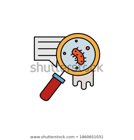 Nagyító néz bacilusok izolált webes ikon gyógyszer Stock fotó © Imaagio