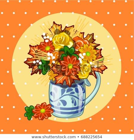 образец дизайна плакат Cute букет сушат Сток-фото © Lady-Luck