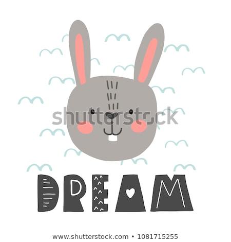 Cartoon conejo artesanía ilustración artes papel Foto stock © cthoman
