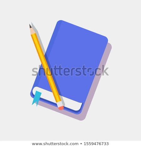 Bookmark in Blue Diary and Pencil Color Icons Stock photo © robuart
