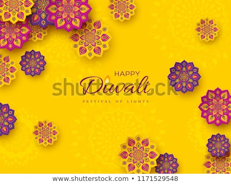 Stock photo: artistic diwali festival background with mandala decorative
