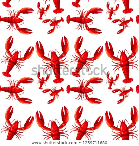 Stock photo: Sealess red lobster background