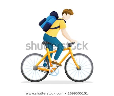 üzletember · lovaglás · bicikli · város · ázsiai · munka - stock fotó © jossdiim