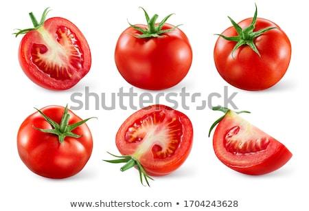 Foto stock: Tomates · peças · topo · ver
