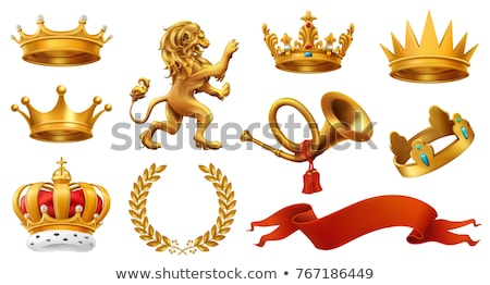 ribbon and crown set icons vector illustration stock photo © robuart