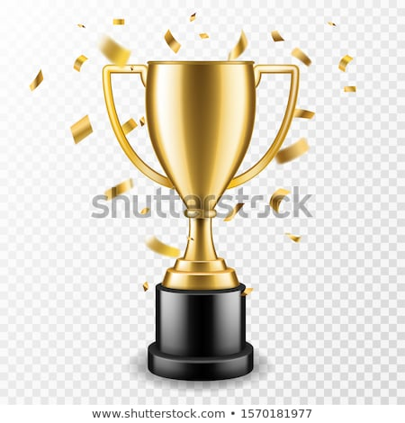 Champion Golden Trophy Cup Vector Shiny Gold Award Stock photo © robuart