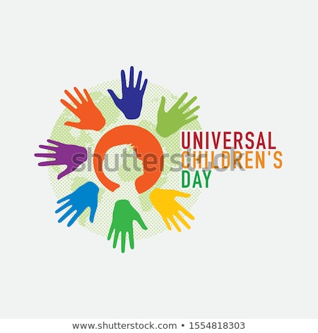 Cartaz projeto universal dia ilustração menina Foto stock © colematt