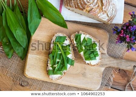хлеб масло чеснока Top мнение Сток-фото © madeleine_steinbach